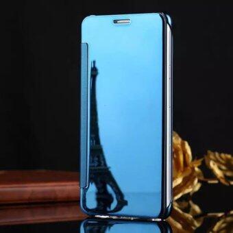 Smart Sleep Mirror Flip Case Cover For Oppo R9s(Light blue) - intl