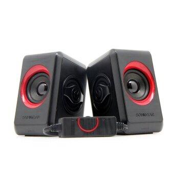 SonicGear Quatro 2 USB Speaker (Black Red)