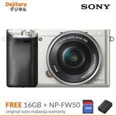 sony digital camera price list. sony a6000 w/16-50mm mirrorless digital camera silver (sony malaysia warranty) price list