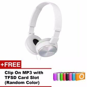 Harga Sony MDR-ZX310BC(CN) Sound Monitor On-Ear Headphone + FREE Clip OnMP3 with TFSD Slot (Random Color)