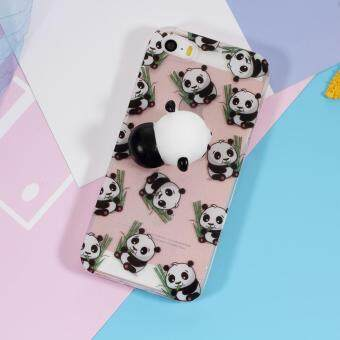 Squishy 3D Silicone Kneading Panda TPU Case for iPhone SE/5s/5 -Panda Pattern