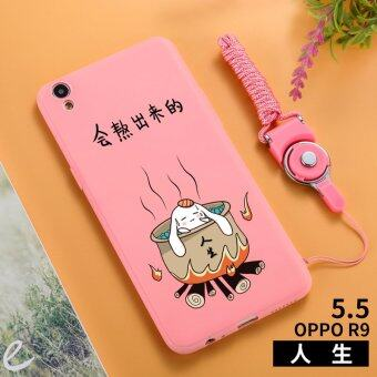 Stylish guy's oppor9/r9plus/oppor9s cool silicone lanyard soft case phone case