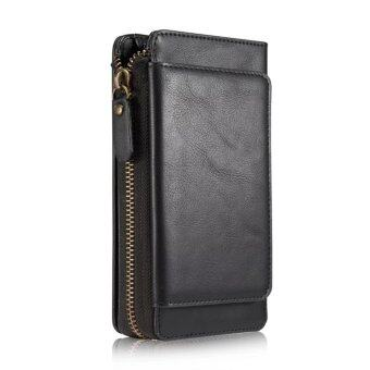 Top Quality Zipper Leather Case For Samsung galaxy note 5 Mobile Phone Bag Wallet Stand With Card Holder Cover Casing