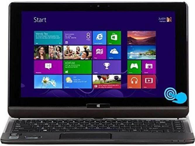 Toshiba Satellite 2 in 1 Convertible Flagship 12.5-Inch IPS HD Touchscreen Ultrabook | Intel Core i5-3337U | 128GB SSD | 8GB RAM | GPS | NFC | WIFI | Backlit Keyboard | Windows 10 Malaysia