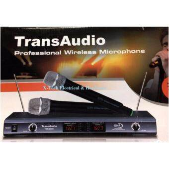 Harga TransAudio VHF Professional Wireless Microphone with 2 Microphones TWM-5200 (Black)