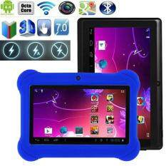 Triumphant Hot Sell Free Shipping 7 Inch Allwinner A33 Android4.4 Quad Core 1+16GB Tablet W/ Cover Blue EU Plug Malaysia