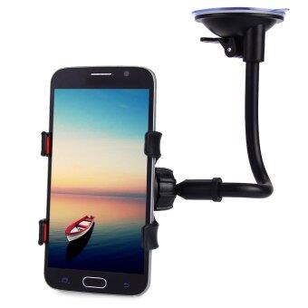 Universal Long Arm 360 Degrees Rotation Car Mount Holder (Black)