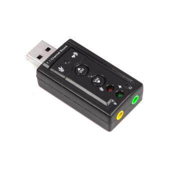 Harga USB Audio sound card Adapter Virtual 7.1ch USB2.0 3D Virtual 12MbpsMic Speaker Audio Headset Microphone 3.5mm Jack Converter