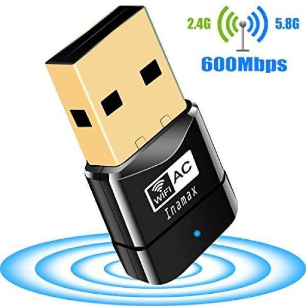 USB Wifi Adapter, AC600 Mini Wireless Network Wifi Dongle for PC /Desktop/Laptop/Tablet, Dual Band (2.4G/150Mbps+5G/433Mbps) 802.11 ac, Support Windows 10/8/8.1/7/Vista/XP/2000, Mac OS 10.4-10.12.6 - intl