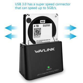Wavlink USB 3.0 to SATA 2.5 3.5inch HDD/SSD Dock Station Plug andPlay External Storage Enclosure with 12V UK Power Adapter