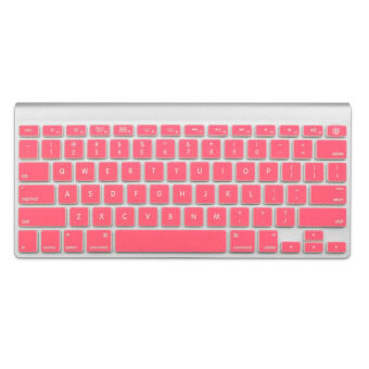 Welink Fashion Silicone US Keyboard Cover Waterproof KeyboardProtector Skin For Apple Macbook Air 13 Inch Macboo k Pro 13 Inch15 Inch And Imac (Pink) - 3