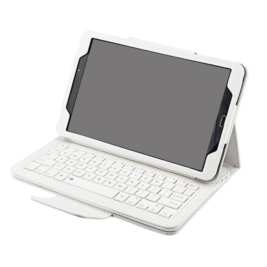 Wireless Bluetooth Keyboard Protective Case Magnetic AbsorptionFunction Detached Cover Tablet Bracket for 10.1inches 2016 VersionSamsung Galaxy Tab A T580 T585 Tablet White - intl