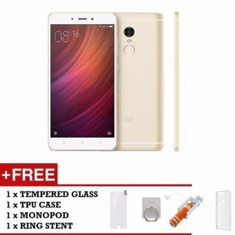 Malaysia Prices Xiaomi Redmi Note 4 Qualcomm Snapdragon 32GB/3GB (Gold) Free Tpu Case + Tempered Glass