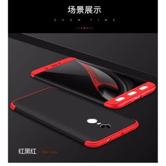 Harga Xiaomi Redmi Note 4 (SNAPDRAGON)/ Note 4x (SNAPDRAGON) GKK 360 Degree Full Covered Matte Case Cover Casing (Black Red)