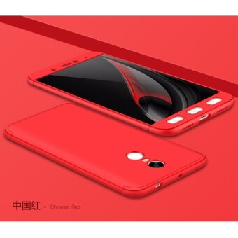 Harga Xiaomi Redmi Note 4 (SNAPDRAGON)/ Note 4x (SNAPDRAGON) GKK 360 Degree Full Covered Matte Case Cover Casing (Red)