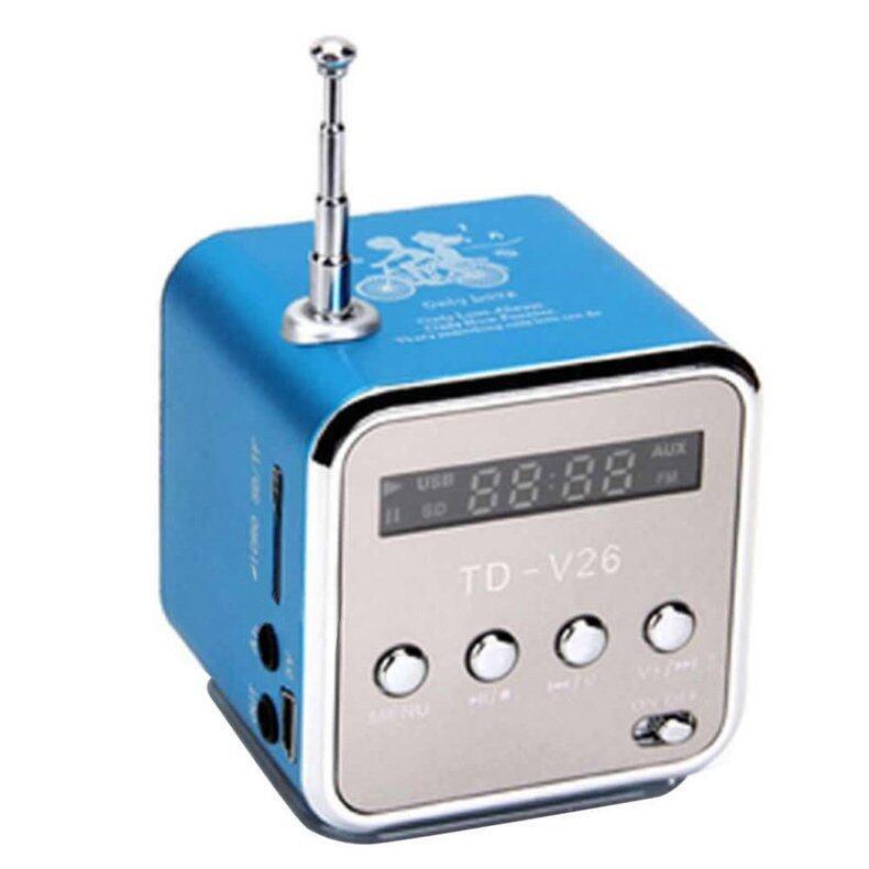 YBC Mini Portable USB Micro SD TF Speaker With FM Stereo Radio (Blue) - Intl Malaysia