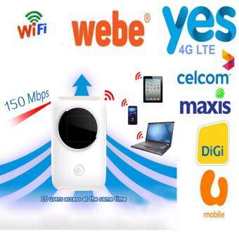 Yes 4G LTE Wifi Router 150Mbps Hotspot Car Mifi Modem Broadband 4GWi-Fi Router for Digi,Maxis,Celcom,Webe