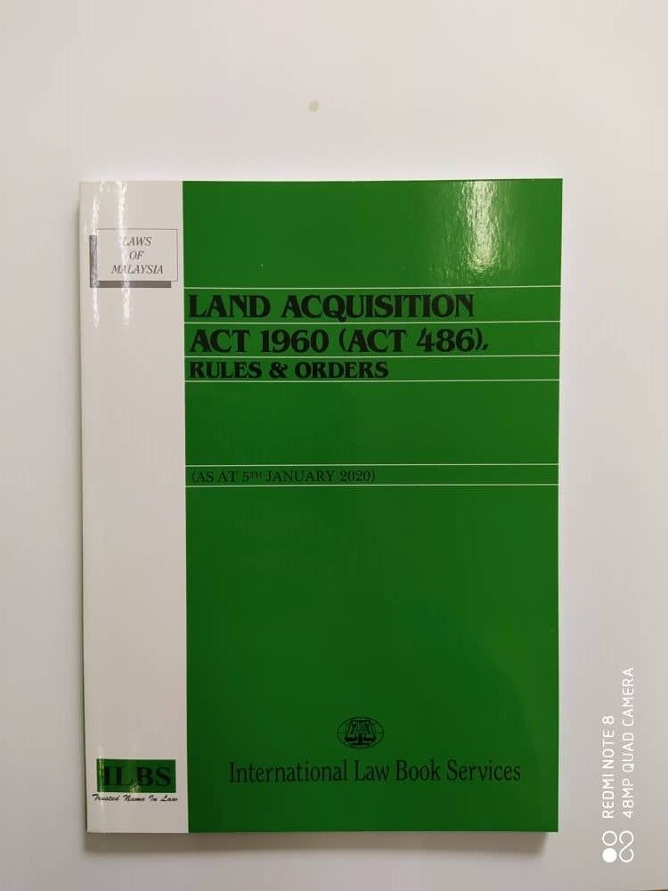 Land Acquisition Act 1960 Act 486 As At 05 January 2020 Lazada