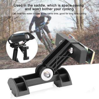 Double Bicycle Kettle Water Bottle Extension Rack Holder Cage Adapter For Bike Back Saddle