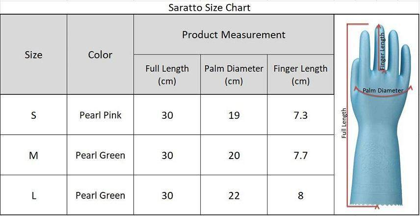 Showa Saratto Touch Flock Lined PVC Household Glove (L Size)