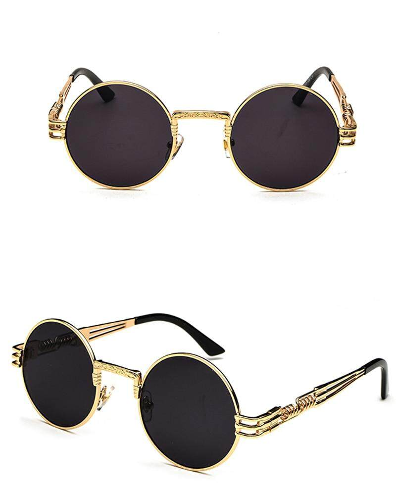 de7babf4e Peekaboo vintage retro gothic steampunk mirror sunglasses gold and black  sun glasses vintage round circle men UV gafas de sol. 0 0- 1 2 4 ...