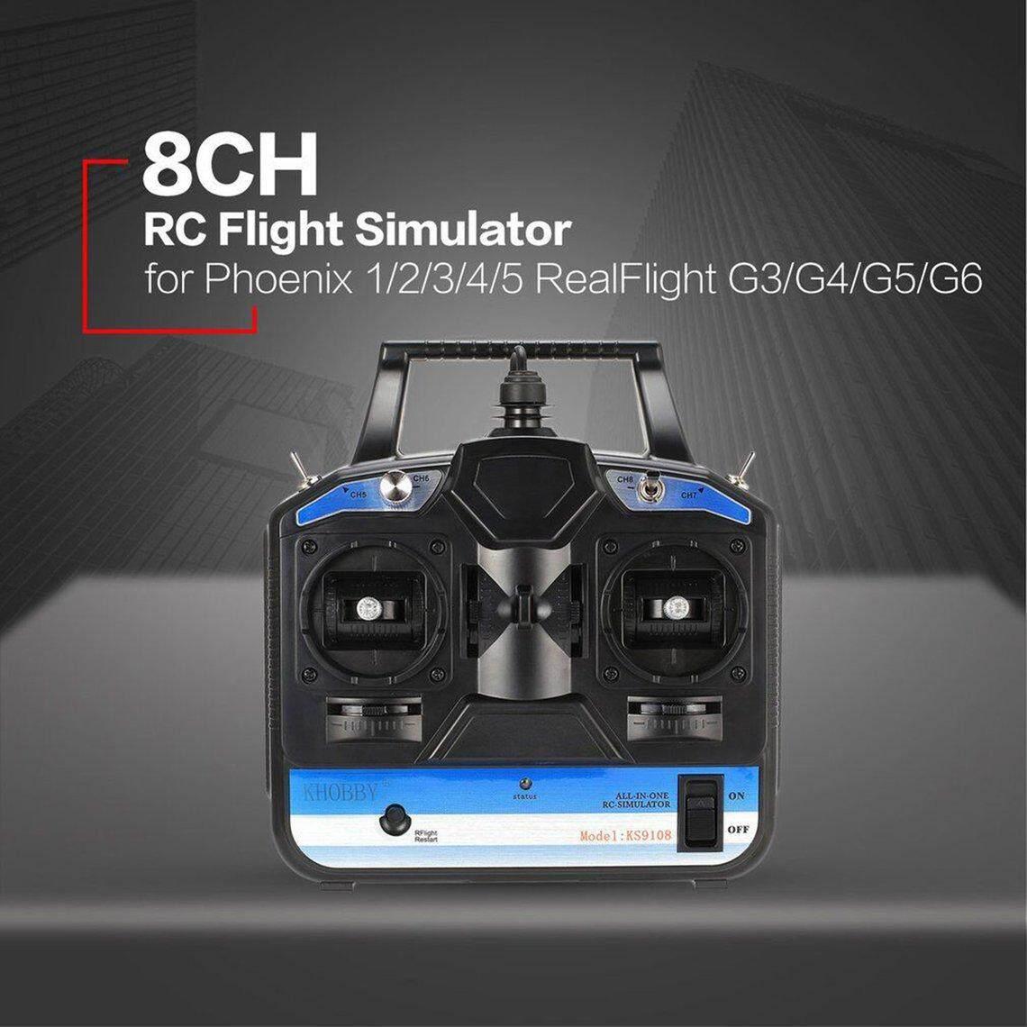 Best Discount 8CH RC Flight Simulator RC Transmitter for Phoenix 5 0  RealFlightG3/G4/G5/G6