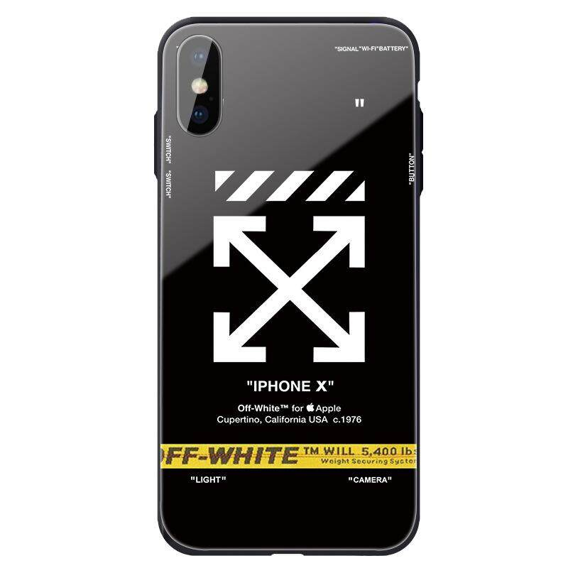 the best attitude 97ba5 e42cd iPhone X XR XS Max Case 8 7 6 Plus Street Fashion Off White Bumper Cover  for Apple