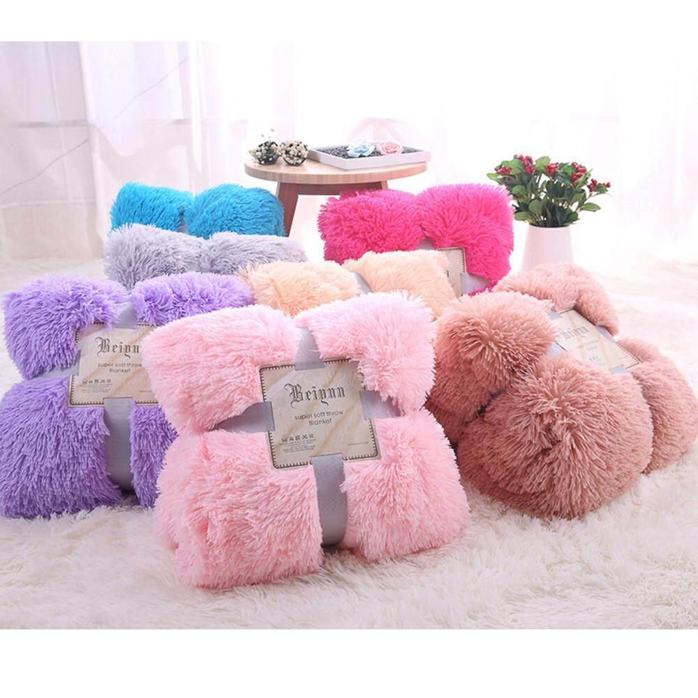 Soft Warm Gy Faux Fur Throw Blanket