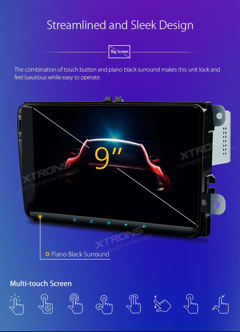 XTRONS 9 Inch Android 8 0 Octa Core 4G RAM 32G ROM HD Digital Multi-Touch  Screen OBD2 DVR Car Stereo Player Tire Pressure Monitoring WiFi OBD2 NO-DVD