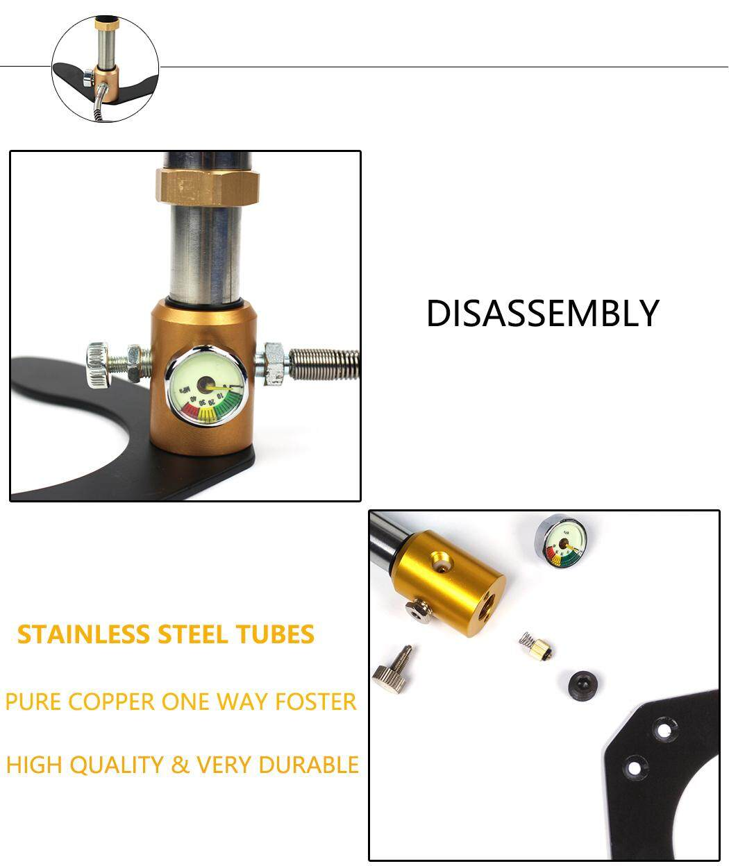 Stainless Steel Fixed Pedal PCP Pump High Pressure Hand Operated Air Pump  30mpa 4500psi For HPA Tank Air Filling Hunting Car Bicycle Motorcycle Tires