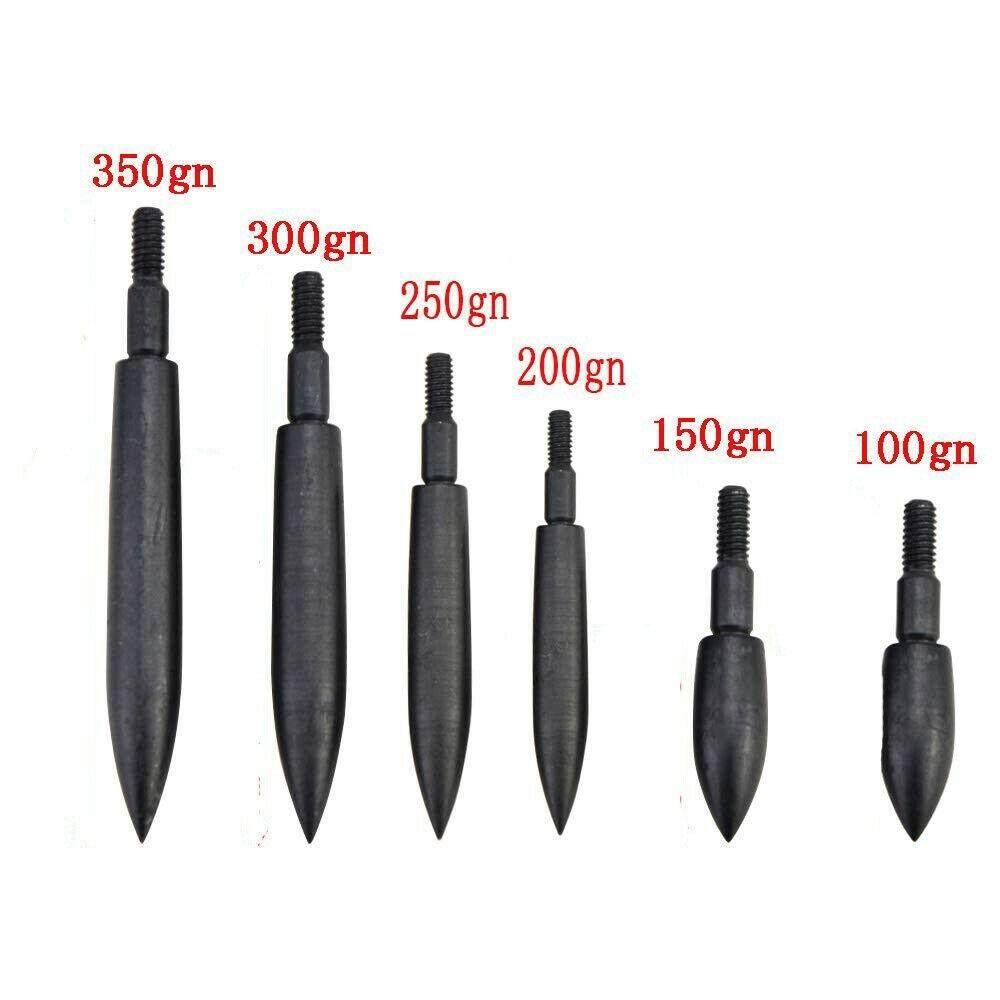 12Pcs Archery Arrow heads Field Points 100//150//200//250//300//350 Grain Broadheads