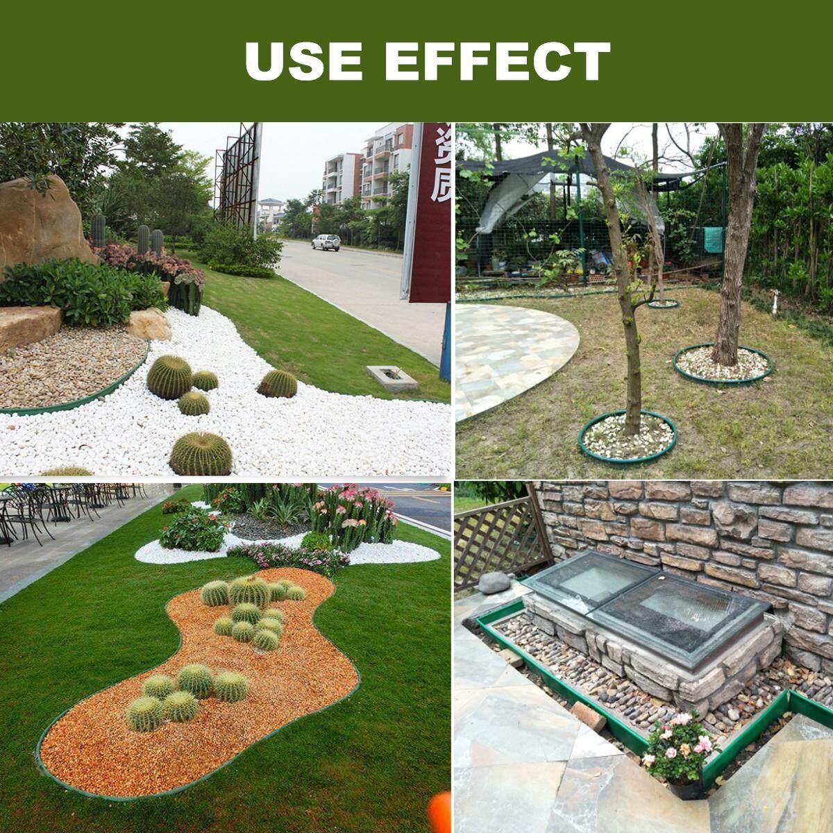 10m PE Grass Edging Fence Belt Border Plastic Garden Lawn Stone Isolation Path