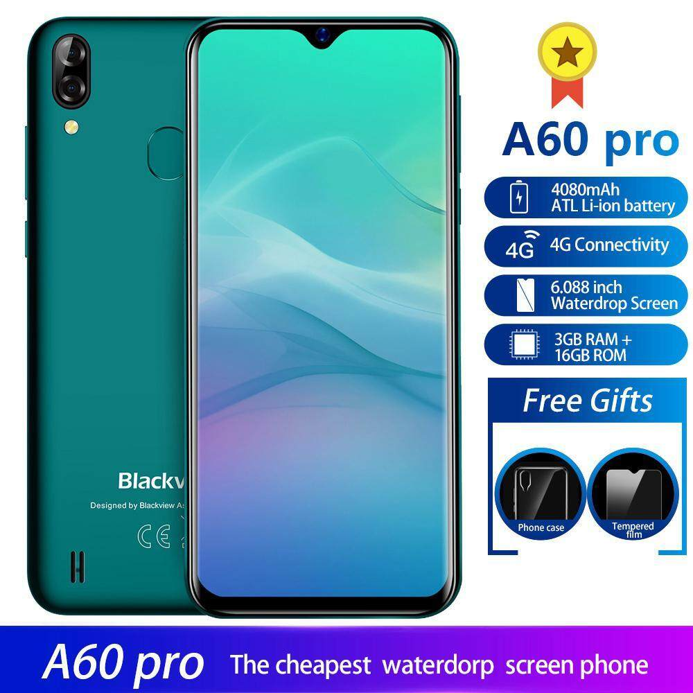 UMION Multi-Touch, Blackview A60 Pro, Fingerprint Unlock Android 9 0 With  4G Smartphone, 6 1-Inch Drop Screen, 16GB ROM, 8 Million Images