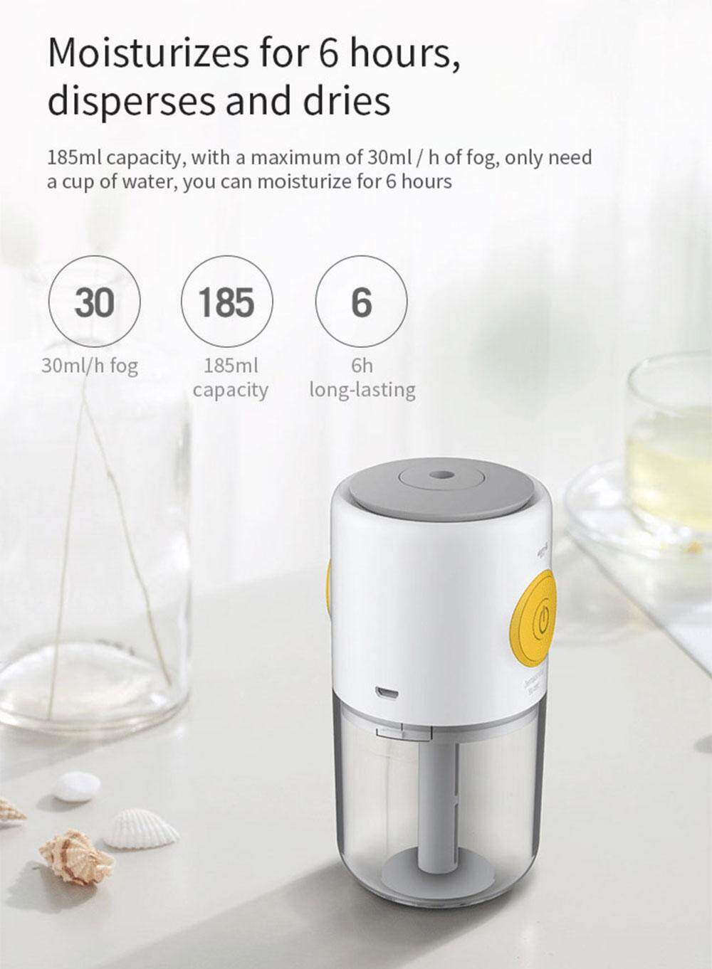 Deerma Mini USB Air Humidifier Mute Home Bedroom Protable Aromatherapy Machine from Xiaomi youpin