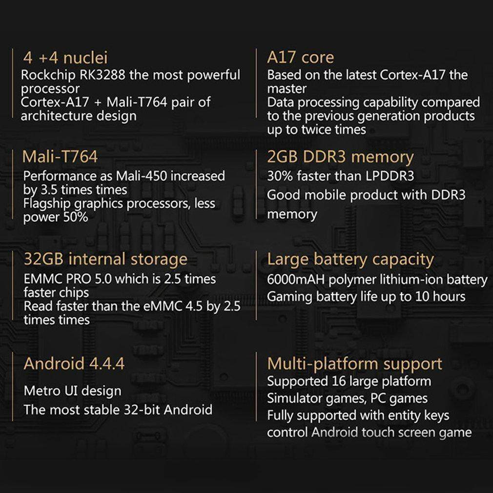 TE GPD XD Android 4 4 4 Gamepad 2GB RAM Cortex-A17 Quad Core Game Console  Tablet