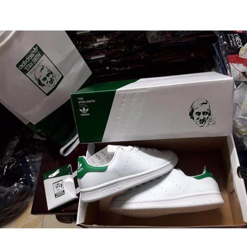 premium selection 6b372 34dd8 Adidas_Original Stan Smith White Green Shoes Leisure sneakers, women's  shoes.