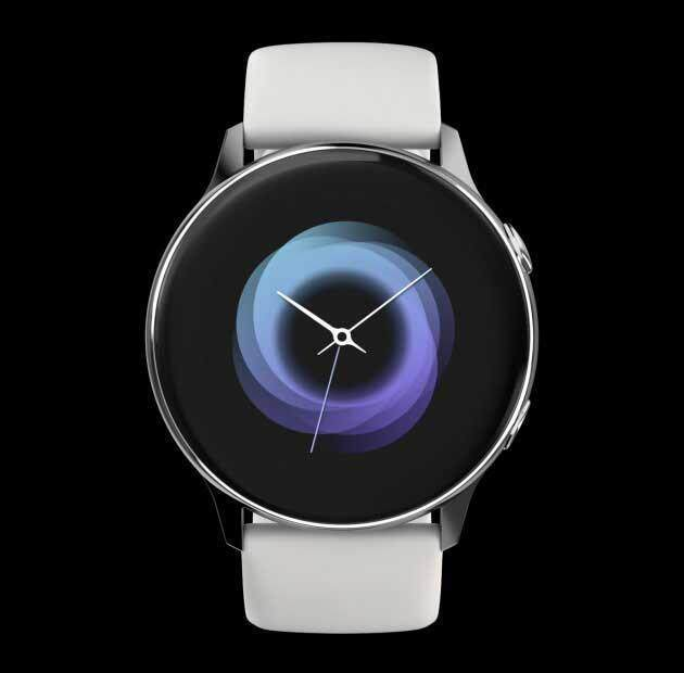 The Galaxy Watch Active rotates 360 degrees and is viewed at various angles