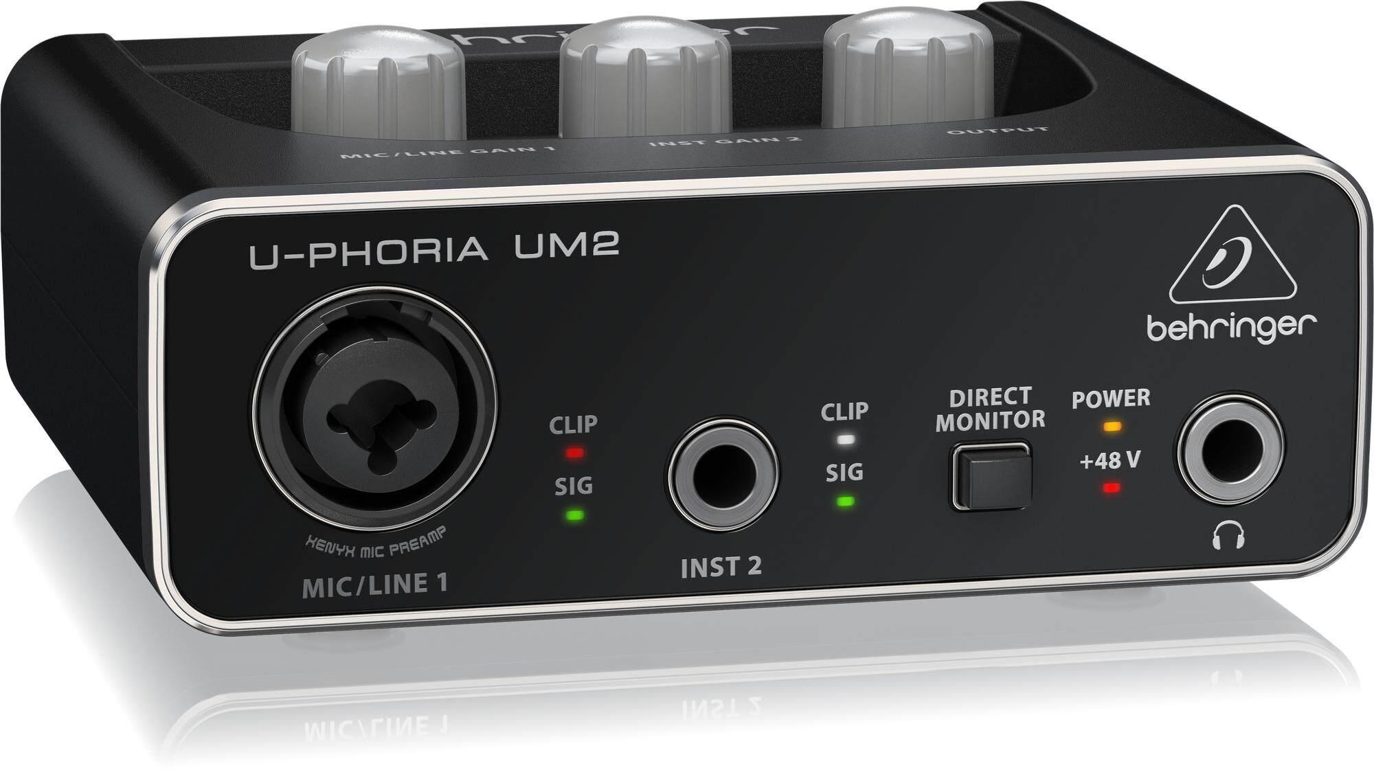 Behringer UM2 side view. Buy UM2 (UM-2) 2x2 USB Audio Interface from AV Electronics Marketing
