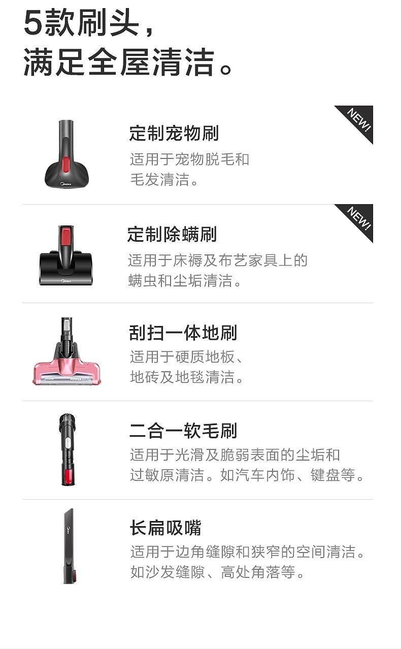Midea P3L 2-in-1 Cordless Stick Vacuum Cleaner, 5
