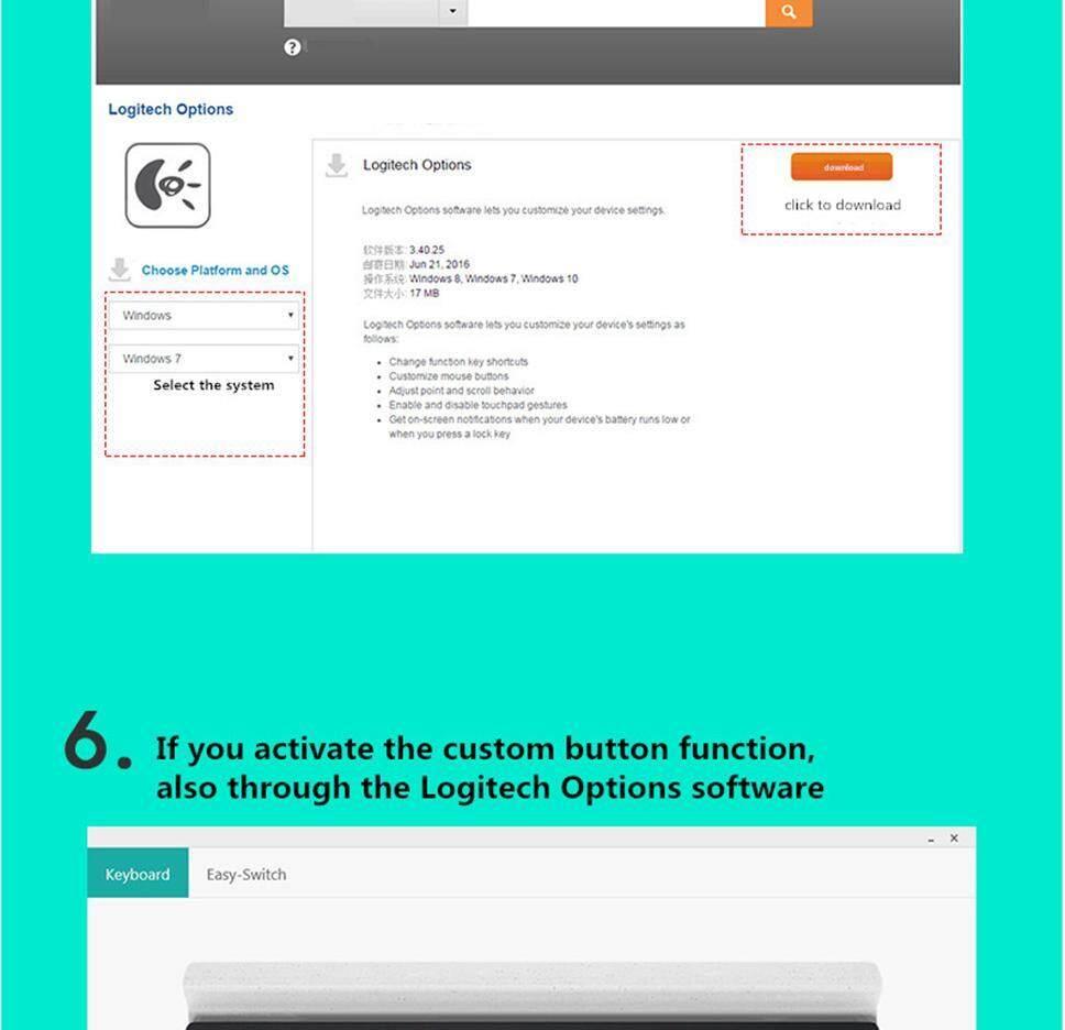 Logitech K780 Multi-Device Bluetooth Wireless Keyboard For Computer,  Tablet, Smartphone