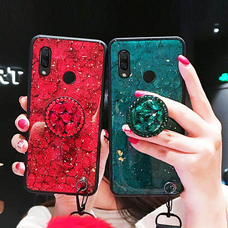 Tfshining Gold Foil Marble Phone Cases For Huawei p20 lite P20 Pro Glitter Cover Pop Stand Case For huawei nova 3 3i 3e Honor (4)