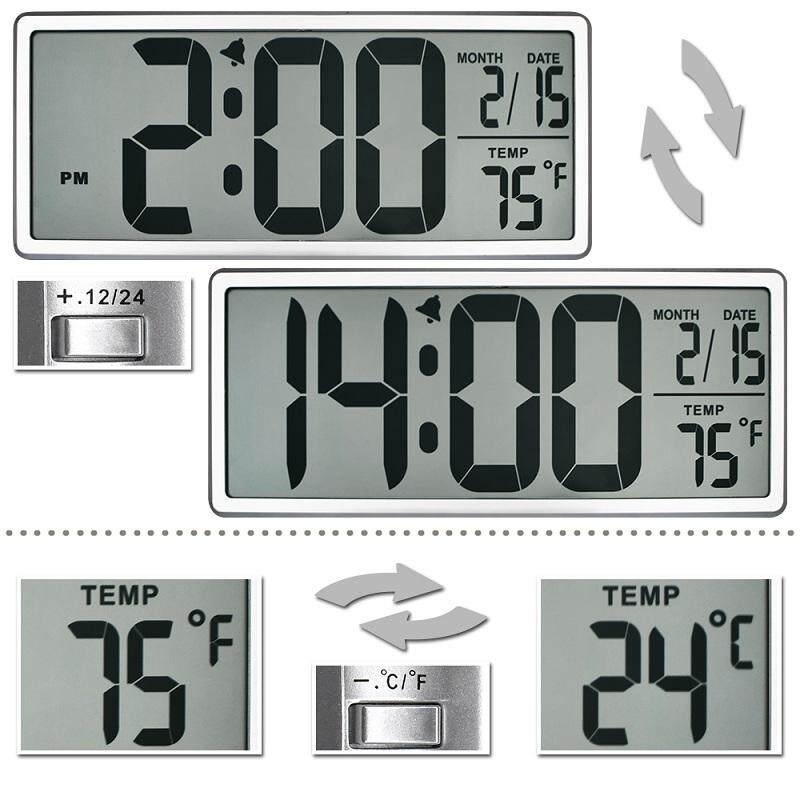Extra Large Vision Digital Wall Clock Jumbo Alarm Clock 13 8