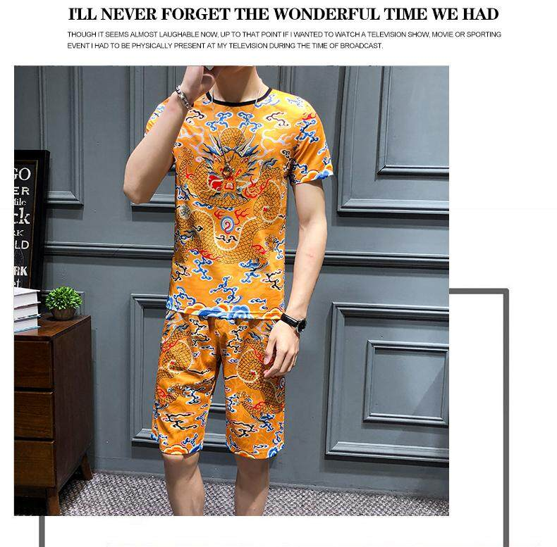 bcebfd16c9 Specifications of COZY UP Spring Summer Men Sets Tracksuit Men T-shirts  Chandal Hombre 2 Pieces Sets O-neck Short Sleeve Hip Hop Cool