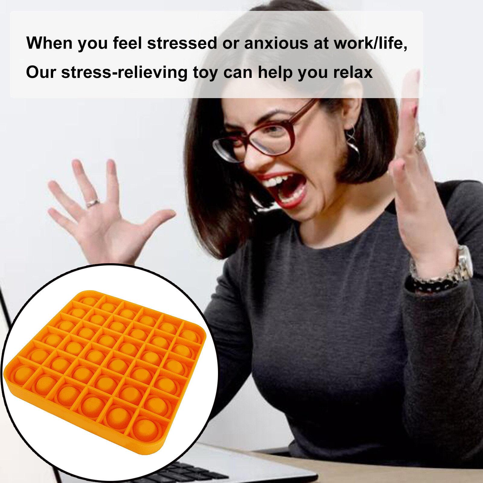 Pop It Fidget Stress Bong Bóng Đồ Chơi Đẩy Bong Bóng Fidget Đồ Chơi Cảm Giác Công Cụ Giảm Căng Thẳng Giúp Giảm Bớt Căng Thẳng Và Tăng Sự Tập Trung Bóp Mềm Đồ Chơi 17