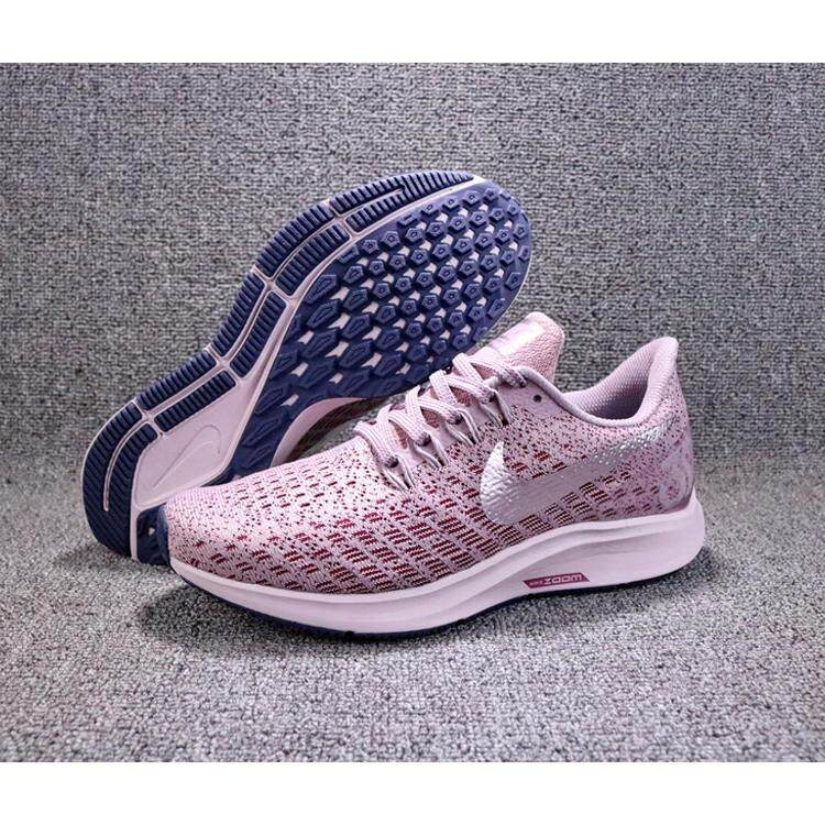 Nike Air Zoom Structure 35 Women's Running Shoes Purple Breathable Non slip Lightweight Sweat absorbent