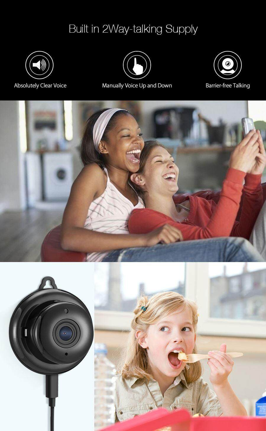 digoo dg-m1q 960p night vision mini wifi smart home security ip camera with onvif support