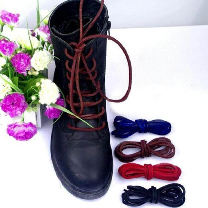 1Pair Rawhide Leather Shoelaces Unisex Shoe Boot Laces Leisure Thin Shoestrings