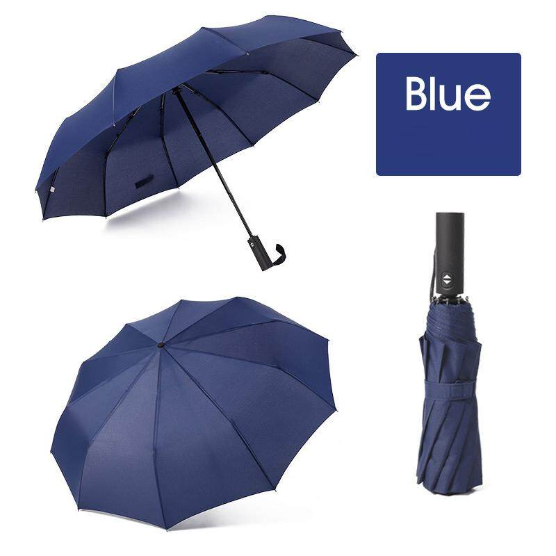 f12837a248cb Strong Wind Resistant Folding Automatic Umbrella Men Women Rain 12Ribs  Large Umbrellas Business Portable Long Handle Parasol