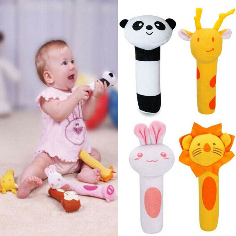 Lovely Animal Handbell Developmental Plush Bell Infant Kid Baby Soft Toy Rattle