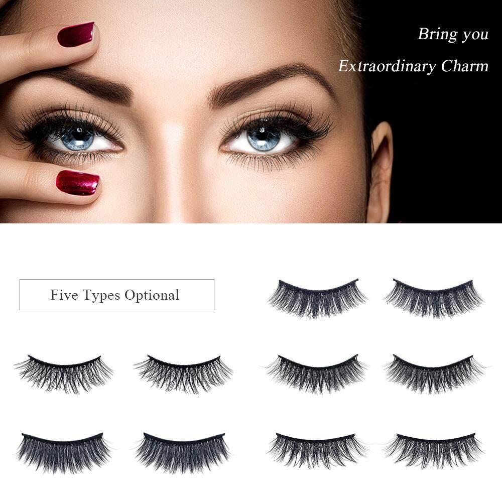 b1b747bae86 Product details of 7 Pairs Natural False Eyelashes Fake Lashes Long Makeup  Mink Lashes Eyelash Extension Mink Eyelashes Black 2#